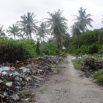 Beautiful Fuvahmulah can't see the beach for the garbage