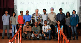 The scientists with members of the Maldives Science Society