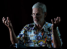 Ed Oberg, celestial mechanic, speaks to the Maldives Science Society
