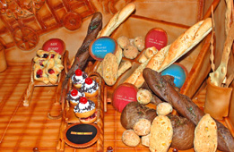 Bread presented for judging at the Bandos event