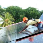 Nasheed installs solar panels on roof, Obama close behind