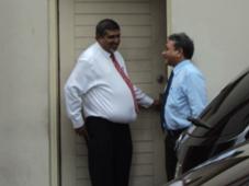 PG Muiz with MP Hamdhoon Hameed
