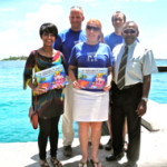 Tourist volunteers collecting data to protect Maldives reef ecosystems
