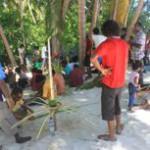 Palm pyre, koadi and coloured water: Maalhos celebrates Eid