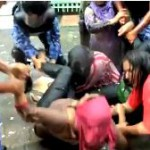 Security forces use water cannon on MDP women's sit-down protest