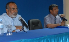 Dr Ibrahim Zakariyya Moosa and MP Afrashim Ali