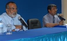 Dr Ibrahim Zakariyya Moosa and MP Afrashim Ali