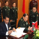 Defence Minister signs military aid agreement with China