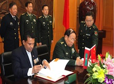 Defence Minister Nazim in China
