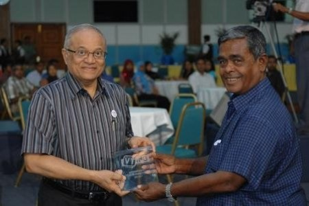 Champa Mohamed Moosa with former President Gayoom