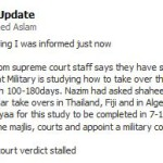 Defence Minister Nazim and lawyer Shaaheen Hameed dismiss speculations of impending military takeover