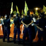 Police arrest 12 during large MDP protest on charges of police assault, obstruction