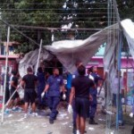 Police begin dismantling gang huts