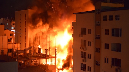 Hundreds affected after massive fire breaks out at warehouse in Malé