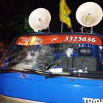 Eight gangsters threaten MDP protesters with knives, vandalise lorry and speaker systems