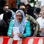 Hundreds urge Criminal Court to release Nasheed's court proceedings