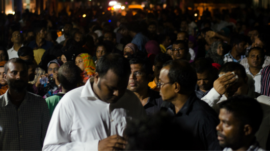 Ali Waheed at protest