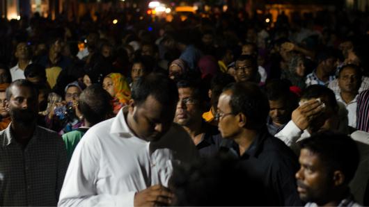 Ali Waheed at protest