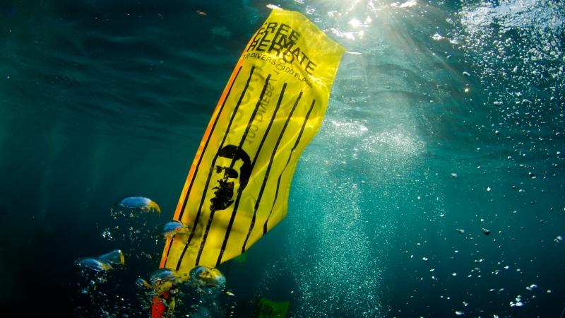 Underwater protest for ex-president Nasheed