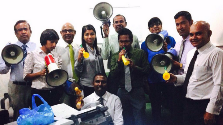 Horns and megaphones banned in parliament chamber