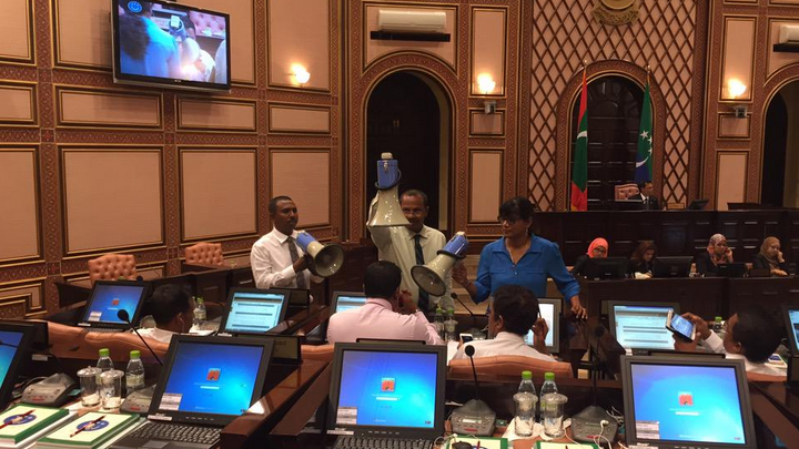 MDP MPs suspend protest for talks with speaker