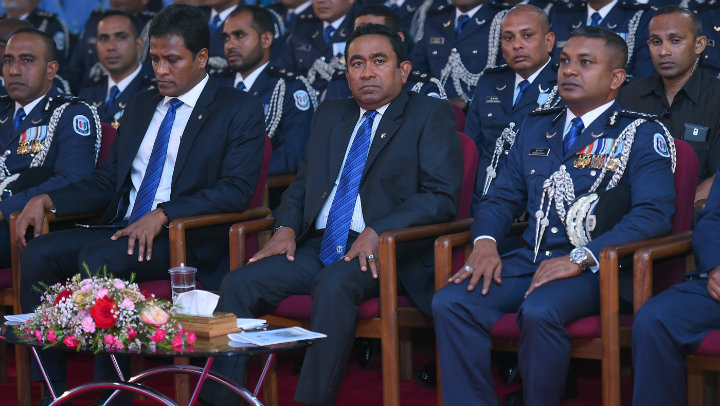 President Yameen remains defiant as calls grow for Nasheed's release