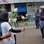 'Peace offering' met with pepper spray and arrests