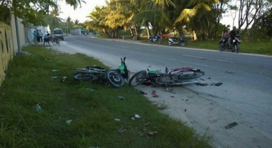 Father and daughter injured in hit-and-run accident in Addu City