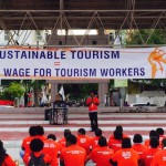 Resort workers rally for 'living wage'