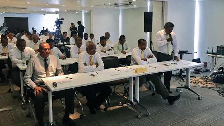MDP proposes imprisoned ex-president to represent party in talks