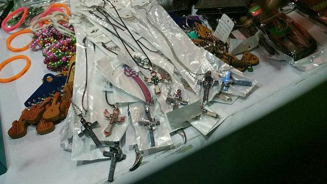 Man arrested for selling crosses