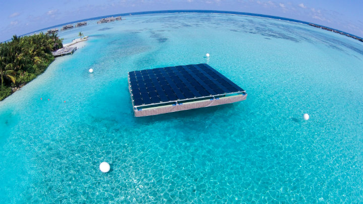 Gili Lankanfushi resort goes green with floating solar panels