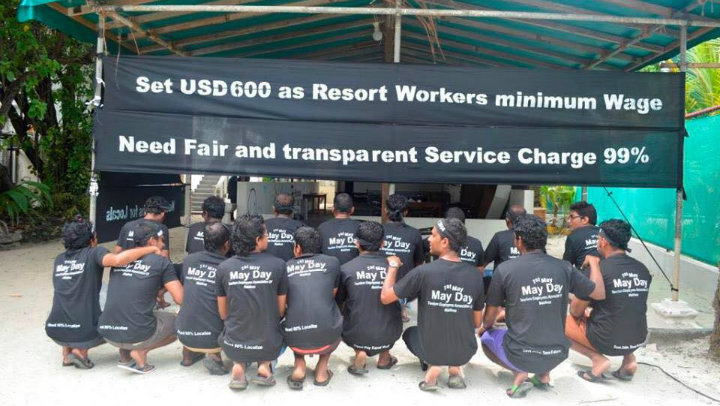 Half of Maldives resort workers sign petition for US$600 minimum wage
