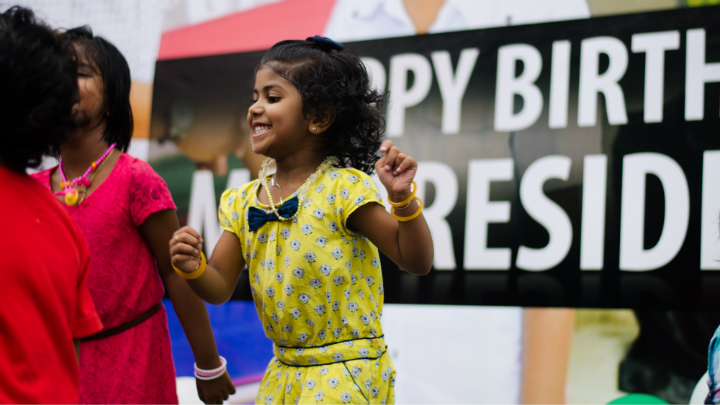 Ruling party holds children's evening on president's birthday