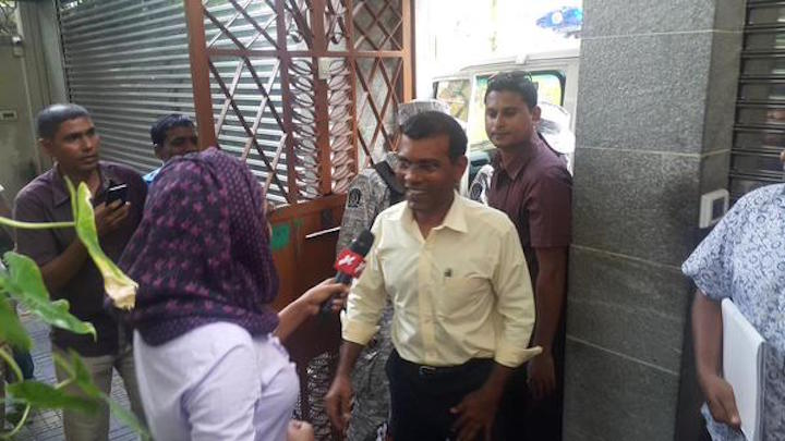President Yameen authorised Nasheed's transfer to house arrest