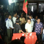 MP Mahloof among nine arrested in peaceful protest