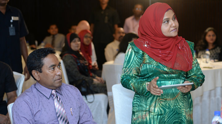Yameen first lady Fathimath