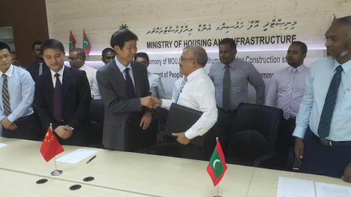 With Chinese grants and loans Malé-Hulhulé bridge inches closer to reality